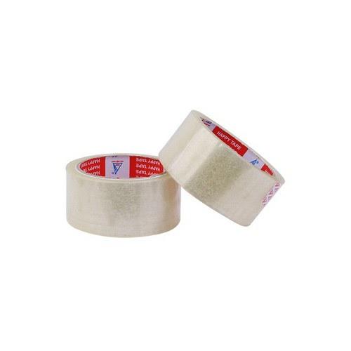 Băng keo trong 6 cuộn có kích thước 48,8mm, 100 yard và nặng 1 ký